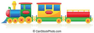 子供, イラスト, ベクトル, 列車