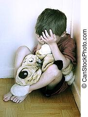 子供, 概念, abuse.