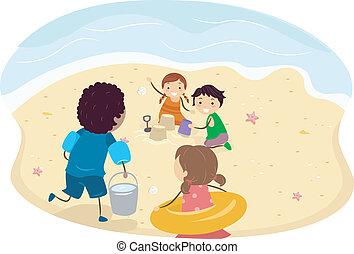 子供, 浜