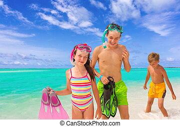 子供, 熱帯 浜