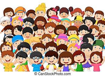 子供, 群集, 漫画