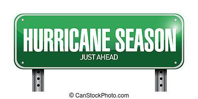 季節, ただ, ハリケーン, 前方に, 道