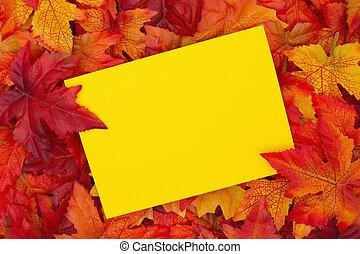 季節, 秋, 挨拶