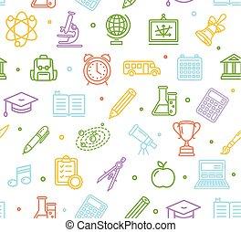 学校, ベクトル, pattern., 背景