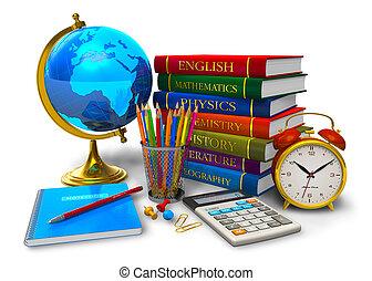 学校, 概念, 教育, 背中