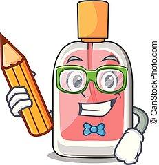 学生, 形, parfum, botlle, 漫画