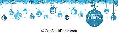 安っぽい飾り, アイコン, クリスマス, 掛かること, 挨拶