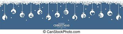 安っぽい飾り, 掛かること, アイコン, 挨拶, クリスマス