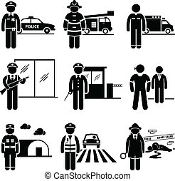 安全, セキュリティー, 仕事, 公衆