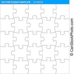 完了しなさい, (25, 困惑, ジグソーパズル, /, pieces), テンプレート