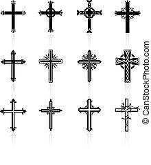 宗教, デザイン, 交差点, コレクション