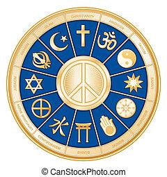 宗教, 平和, 世界, シンボル