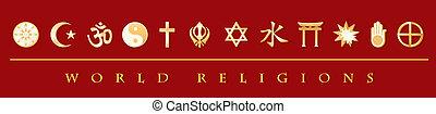宗教, 旗, 世界