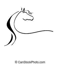 定型の馬, 図画