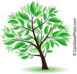 定型, 緑の木, leaves.