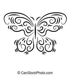 定型, 装飾用である, 美しい, 蝶, 装飾用
