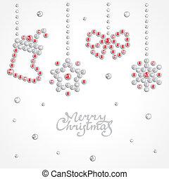 宝石, クリスマス, 背景