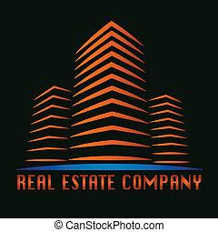 実質, 建物, 財産, ロゴ