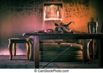家具, 傷つけられる, 火