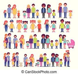 家族グループ, メンバー, 特徴