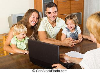 家族, エージェント, 保険