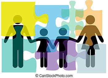 家族, 人々, 困惑, 解決, 健康, サービス, 問題