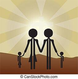 家族, 神聖, 交差点