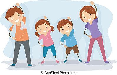 家族, 練習