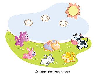 家畜, 庭