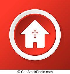 家, キリスト教徒, 赤, アイコン