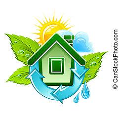 家, シンボル, 生態学的