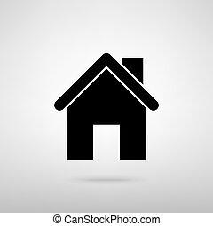 家, ベクトル, イラスト, silhouette.