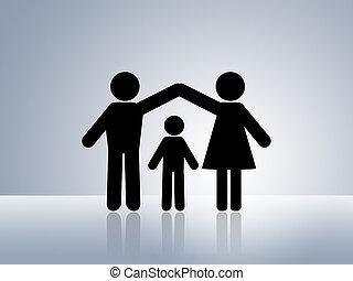 家, 安全である, 保護, 子供
