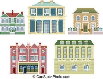 家, 建物, 古い, 贅沢, 作られた