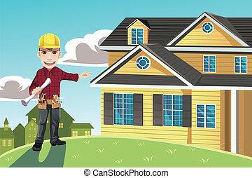家, 建築者