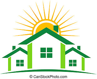 家, 日当たりが良い, ロゴ