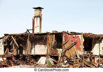 家, 災害, 台無しにされる