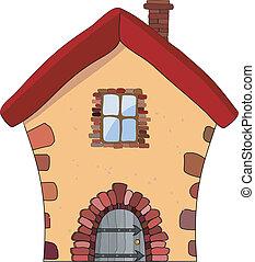 家, 石, ベクトル, イラスト