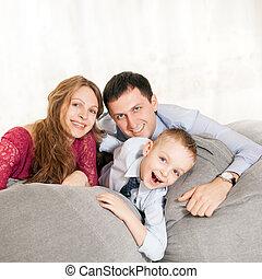 家, 若い 家族