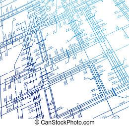 家, 計画, ベクトル, 建築, バックグラウンド。