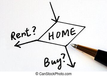 家, 買い物, 賃貸料, ∥あるいは∥