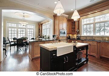 家, 贅沢, 台所