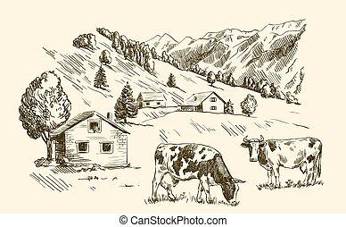 家, 農地, 村
