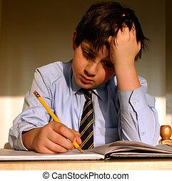 !, 宿題