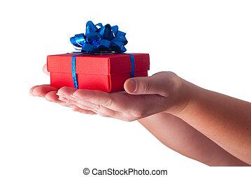 寄付, 贈り物, 手