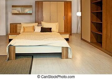 寝室, 木製である