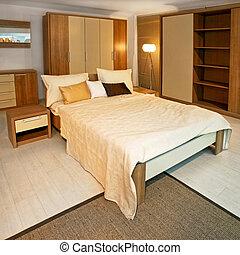 寝室, 木製である, 角度