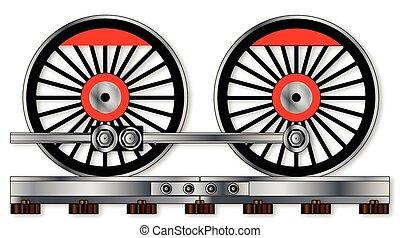 対, 車輪, 列車