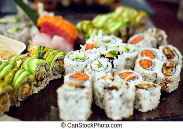 寿司, 回転する, 変化