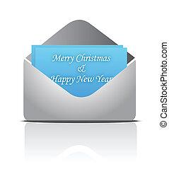 封筒, クリスマスカード, 挨拶